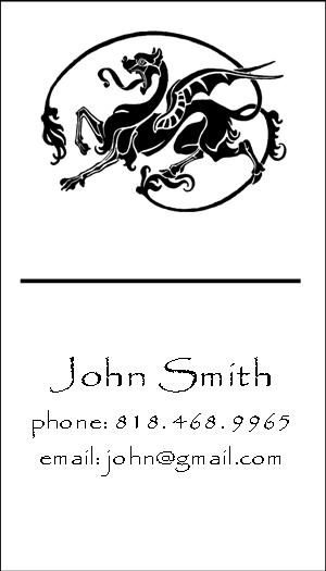The dragon business cards woo paperie press colourmoves